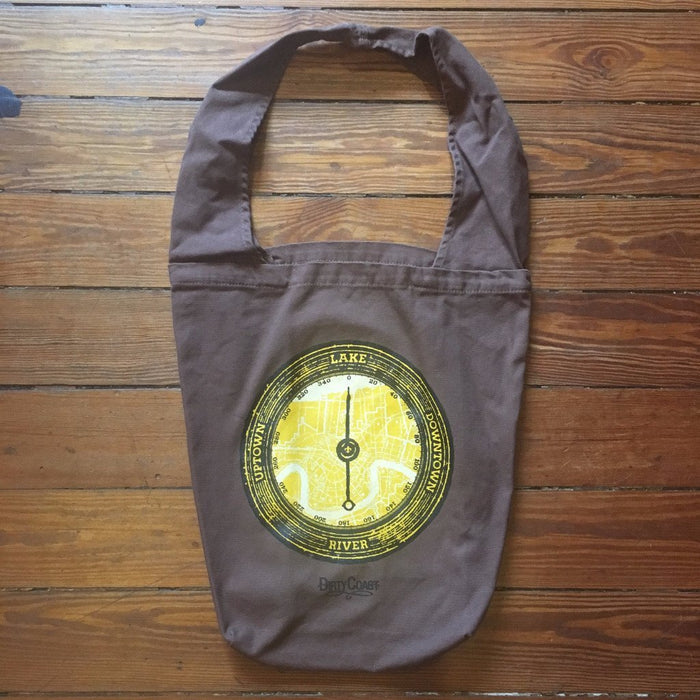 Dirty Coast Press Bag River. Lake. Uptown. Downtown. Tote