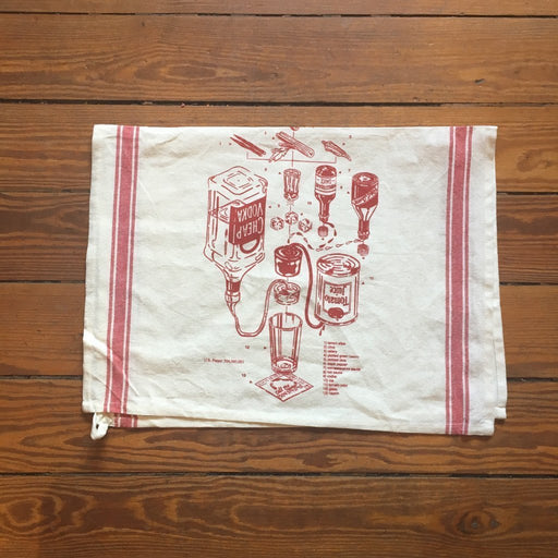 Dirty Coast Press Blood Mary Patent Tea Towel