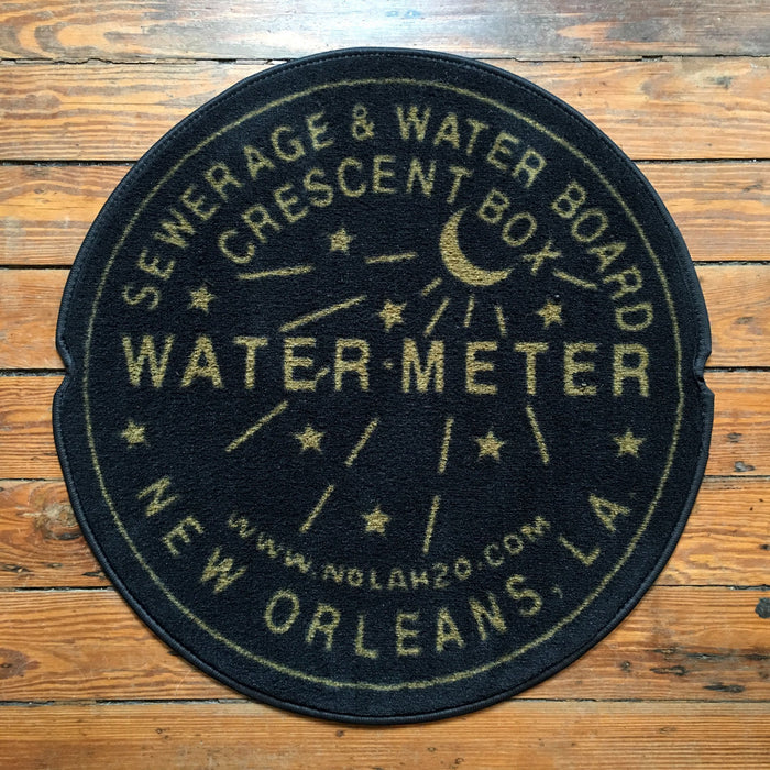 Dirty Coast Press Doormat Black Water Meter Doormat