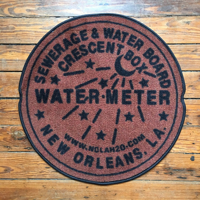 Dirty Coast Press Doormat Rust Water Meter Doormat