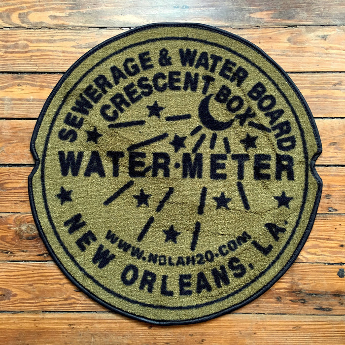 Dirty Coast Press Doormat Tan Water Meter Doormat
