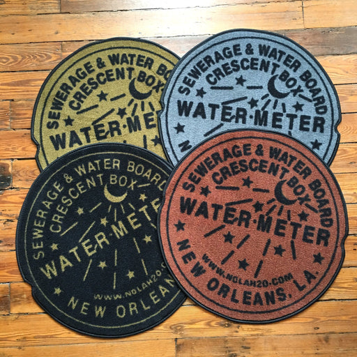 Dirty Coast Press Doormat Water Meter Doormat