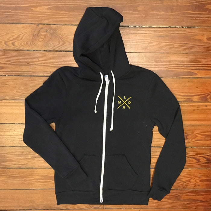 Dirty Coast Press Hoodie Acadiana Hoodie Black & Gold