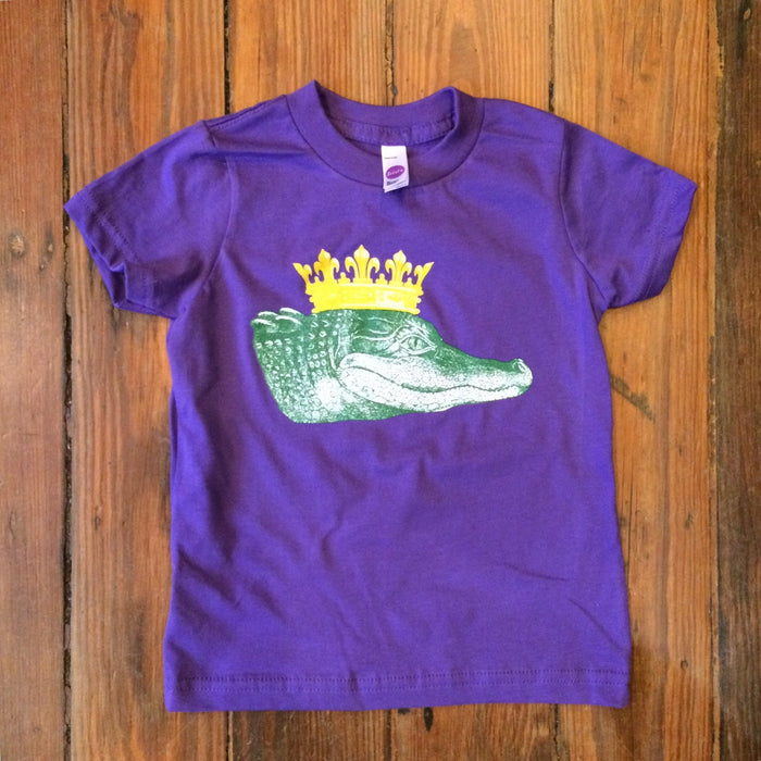 Dirty Coast Press Kid Shirt 12 Month T-shirt King Gator Kids Carnival Edition