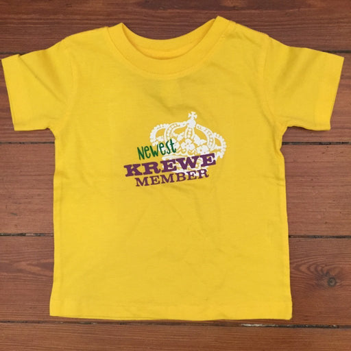 Dirty Coast Press Kid Shirt 12 Month T-shirt Newest Krewe Member Kids