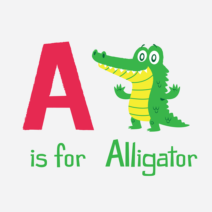 Dirty Coast Press Kid Shirt A is for Alligator Kids