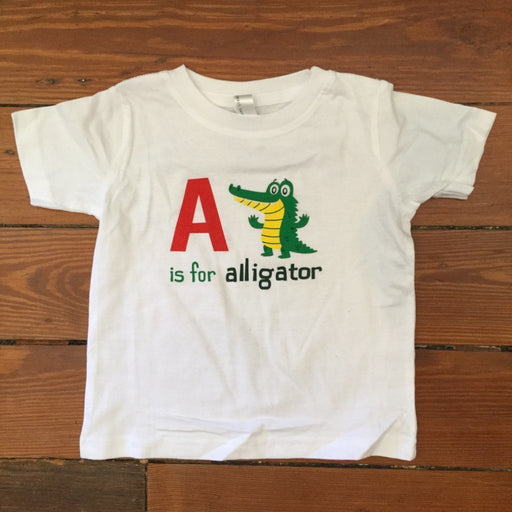 Dirty Coast Press Kid Shirt Newborn Onesie A is for Alligator Kids