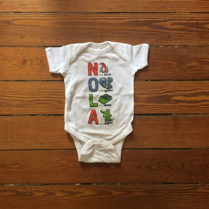 Dirty Coast Press Kid Shirt The NOLA ABCs Kids