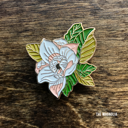 Dirty Coast Press Pins Magnolia Enamel Pin