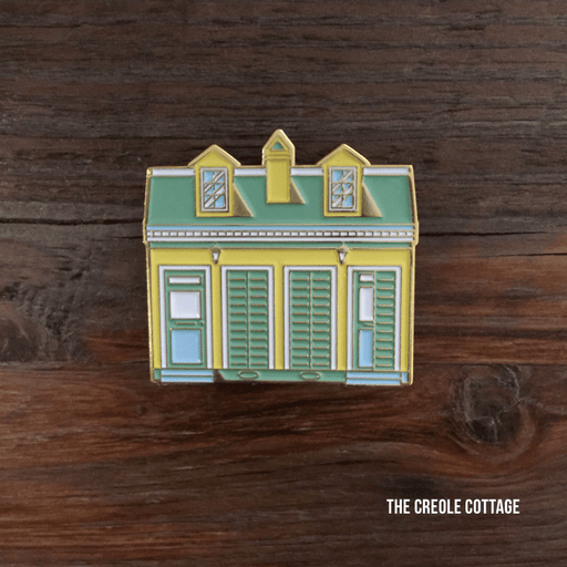 Dirty Coast Press Pins Single Pin Creole Cottage