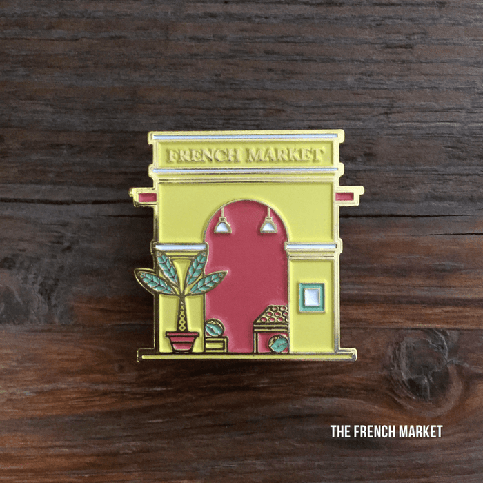 Dirty Coast Press Pins Single Pin French Market Enamel Pin