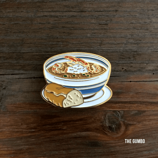 Dirty Coast Press Pins Single Pin Gumbo Enamel Pin