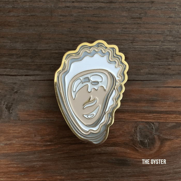 Dirty Coast Press Pins Single Pin Oyster Enamel Pin