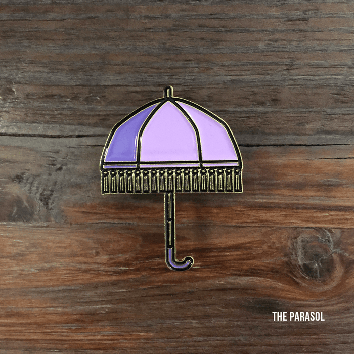 Dirty Coast Press Pins Single Pin Parasol Enamel Pin