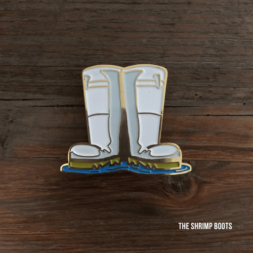 Dirty Coast Press Pins Single Pin Shrimp Boots Enamel Pin