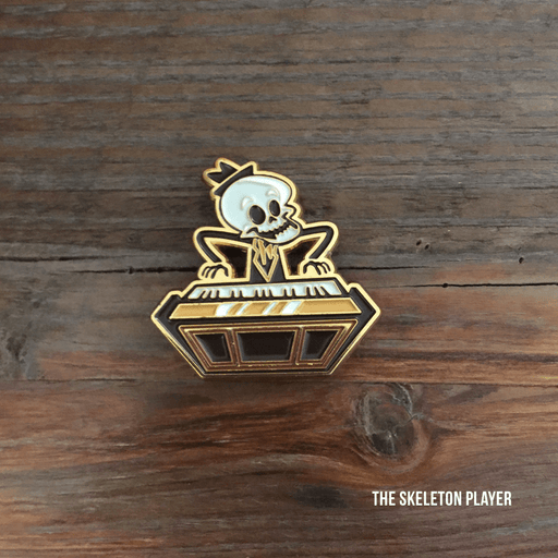 Dirty Coast Press Pins Single Pin Skeleton Player Enamel Pin