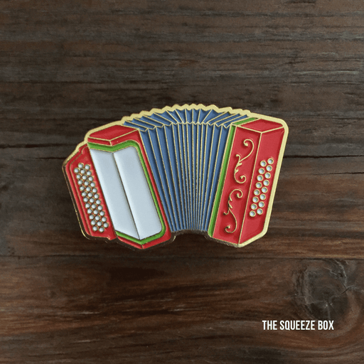 Dirty Coast Press Pins Single Pin Squeeze Box Enamel Pin