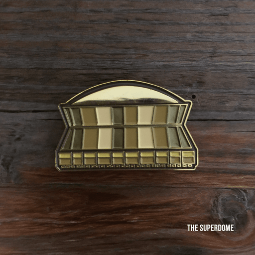 Dirty Coast Press Pins Superdome Enamel Pin