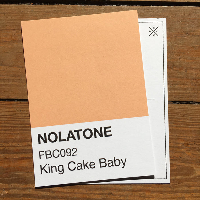 Dirty Coast Press Postcard Nolatones Postcard - King Cake Baby