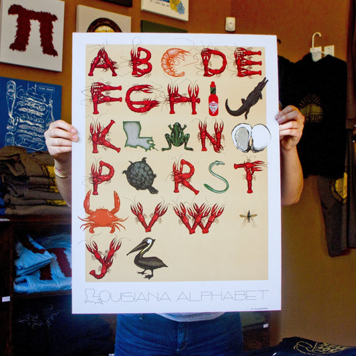 Dirty Coast Press Print Louisiana Alphabet Print