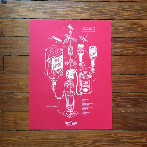 Dirty Coast Press Print The Bloody Mary Patent Print