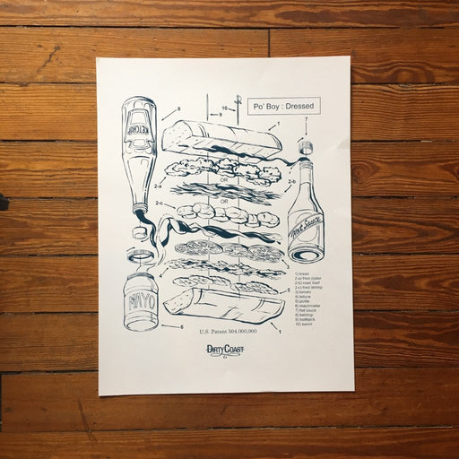 Dirty Coast Press Print The Po-Boy Patent Print