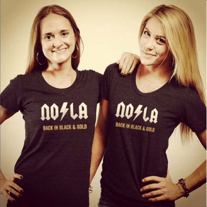 Dirty Coast Press Shirt NOLA Back in Black and Gold