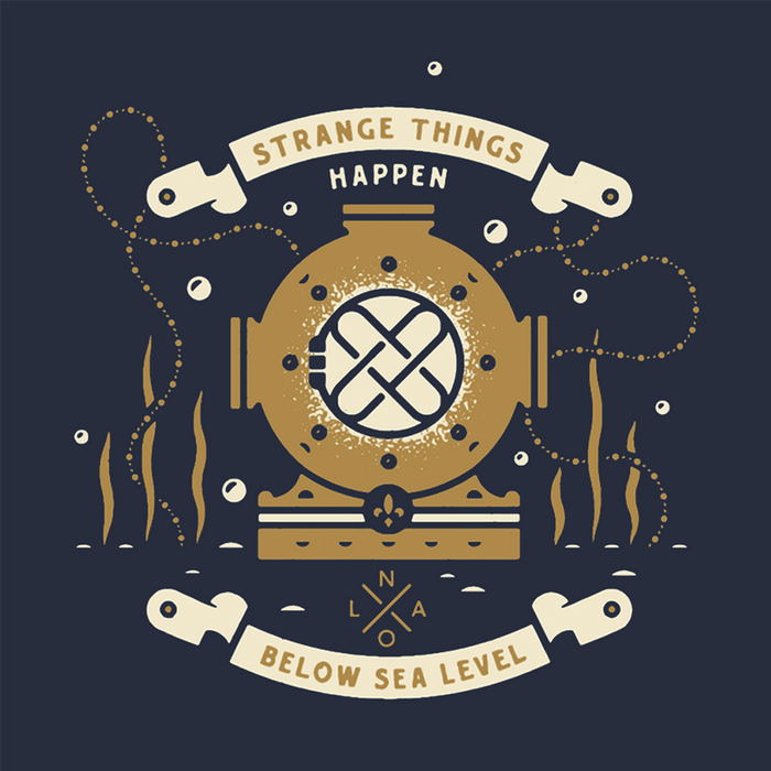 Dirty Coast Press Shirt Strange Things Happen Below Sea Level