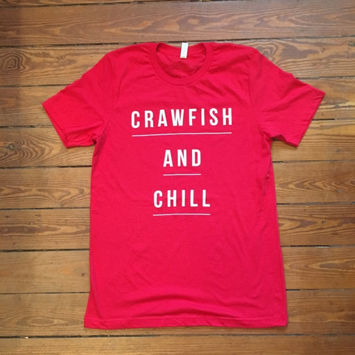 Dirty Coast Press Shirt Unisex Small Crawfish and Chill