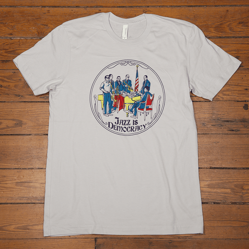 Dirty Coast Press Shirt Unisex Small Jazz Is Democracy