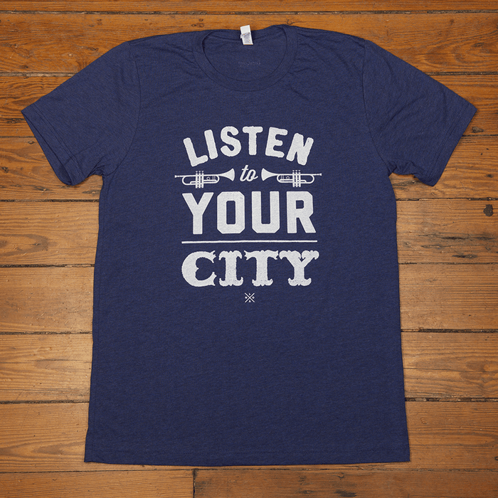 Dirty Coast Press Shirt Unisex Small Listen To Your City