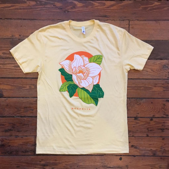 Dirty Coast Press Shirt Unisex Small Love, Louisiana Series - Magnolia Bloom