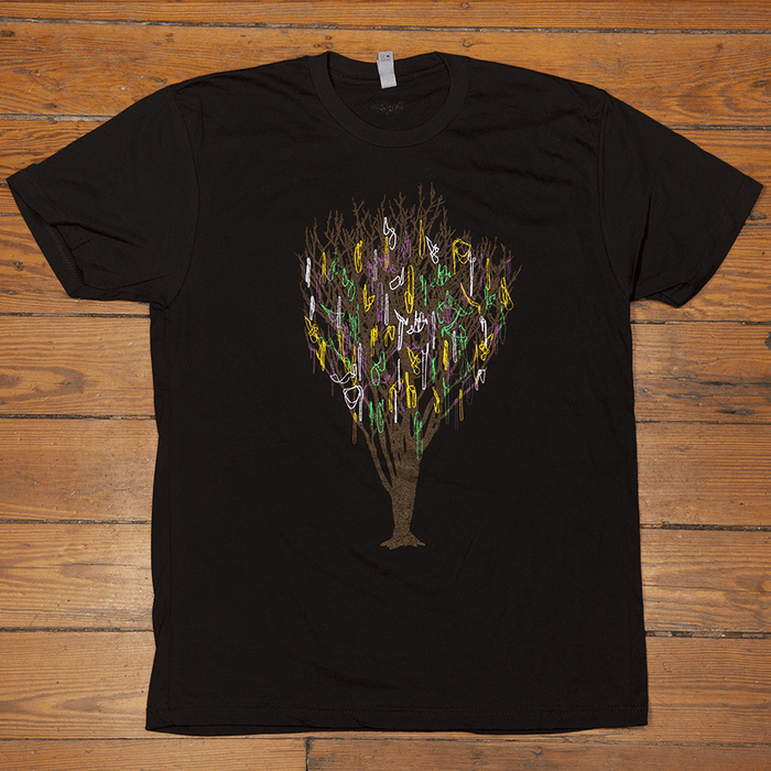Dirty Coast Press Shirt Unisex Small Our Trees Have Bling