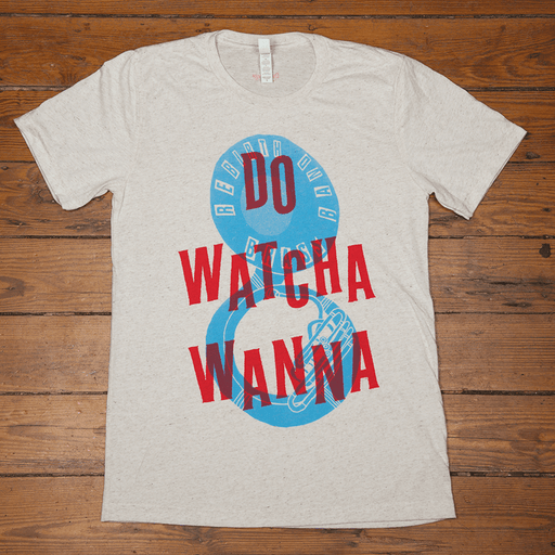 Dirty Coast Press Shirt Women's Small Do Watcha Wanna (White)