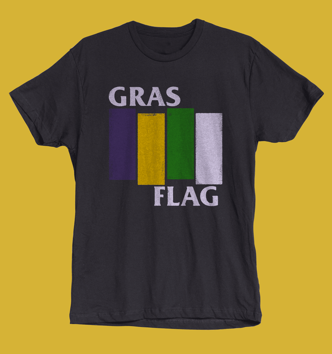 Dirty Coast Press Shirt Women's Small The Gras Flag