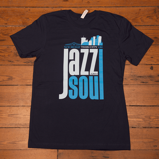 Dirty Coast Press Shirt Women's Small We Built This City On Jazz and Soul