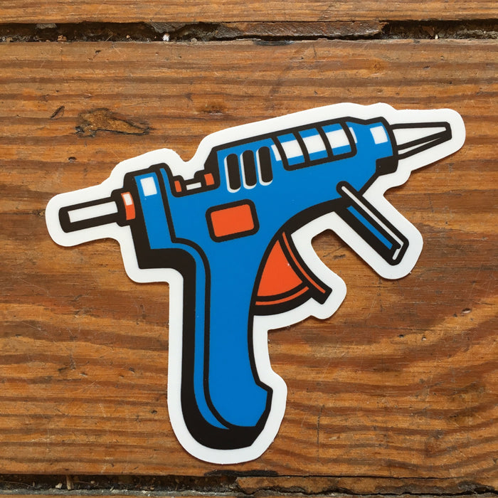 Dirty Coast Press Stickers Glue Gun Sticker