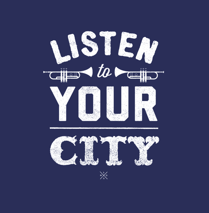 Dirty Coast Press Tank Top Listen To Your City Tank Top