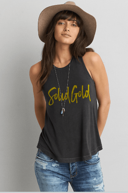 Dirty Coast Press Tank Top Solid Gold Tank