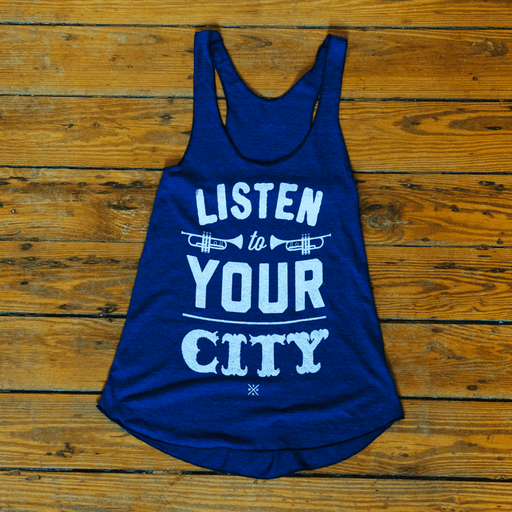 Dirty Coast Press Tank Top Unisex Small Listen To Your City Tank Top