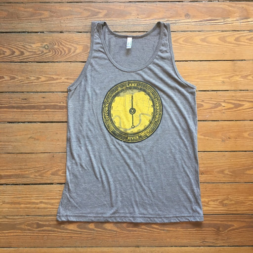 Dirty Coast Press Tank Top Unisex Small River. Lake. Uptown. Downtown. Tank Top