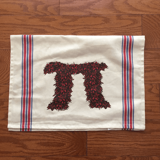 Dirty Coast Press Tea Towel Crawfish Pi Tea Towels