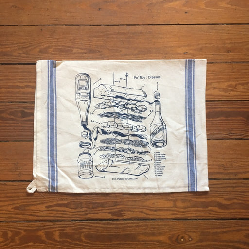 Dirty Coast Press Tea Towel Po'Boy Patent Tea Towel