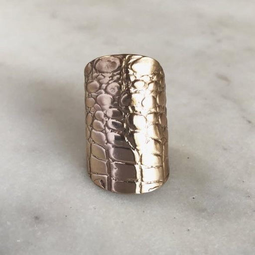 Mimosa Jewelry Alligator Skin Cuff Ring