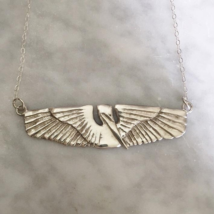 Mimosa Jewelry Pelican In Flight Necklace
