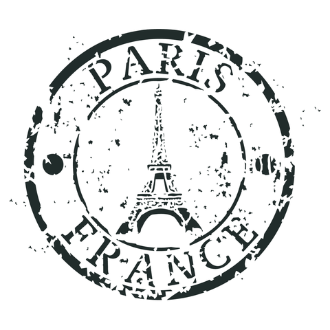 Paris Stamp 15,5ø