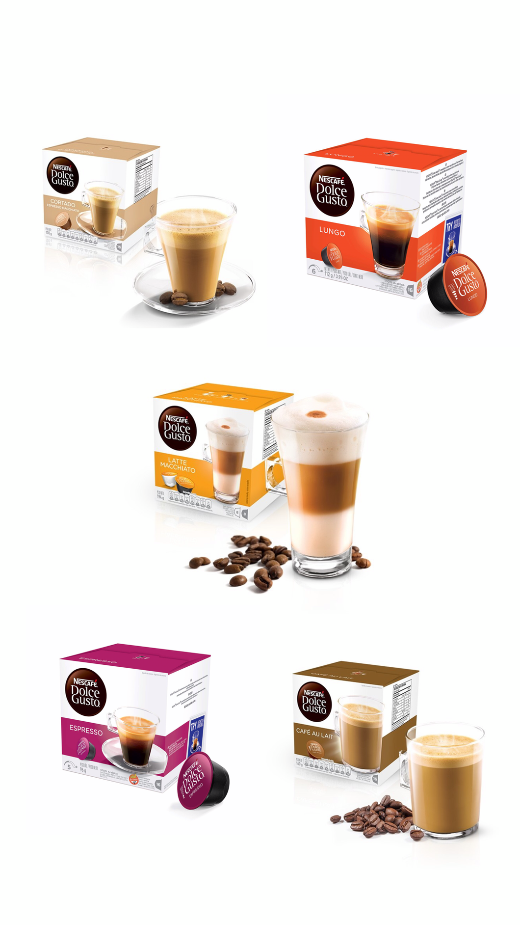 PROMO! Pack clásico - 5 Cajas x16 Capsulas Dolce Gusto