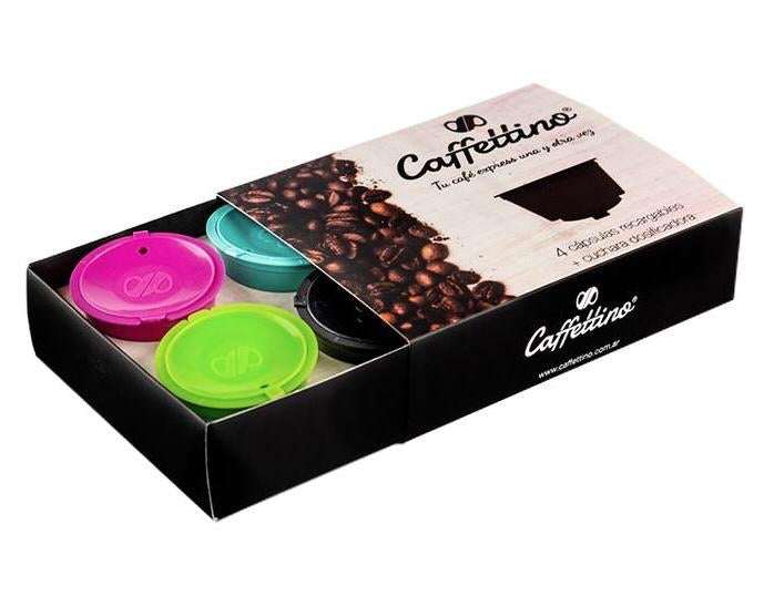 Pack x4 Capsulas recargables para Dolce Gusto - Caffettino