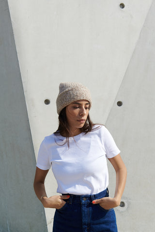Lighthouse Beanie in Pearl River