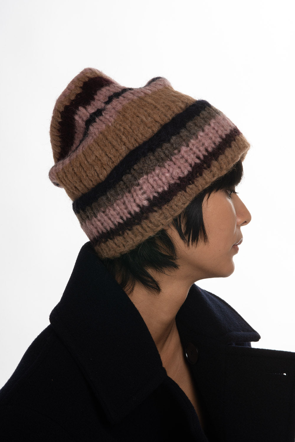 Superba Beanie in Multi Stripe